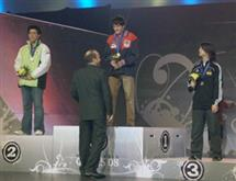 ECE freshman Ryan Mancl (on center dais) won a gold medal at the 2008 World Cyber Games held in Cologne, Germany.