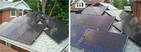 Solar panels are one aspect of Scott's house.