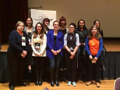 The UIUC participants in the Midwest Conference for Undergraduate Women in Physics.
