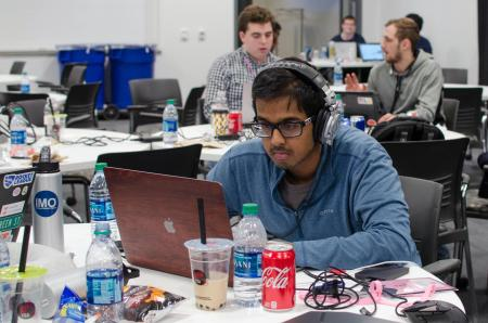 Students spent the weekend tackling open-source problems, with guidance from mentors flown in from around the country and beyond.