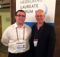 Matt Sinclair (left) with Turing Award winner and Heidelberg Forum laureate Robert Tarjan
