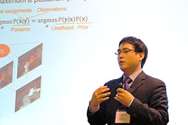 Jungwook Choi presenting at MEMOCODE last fall. Photo courtesy of MEMOCODE.