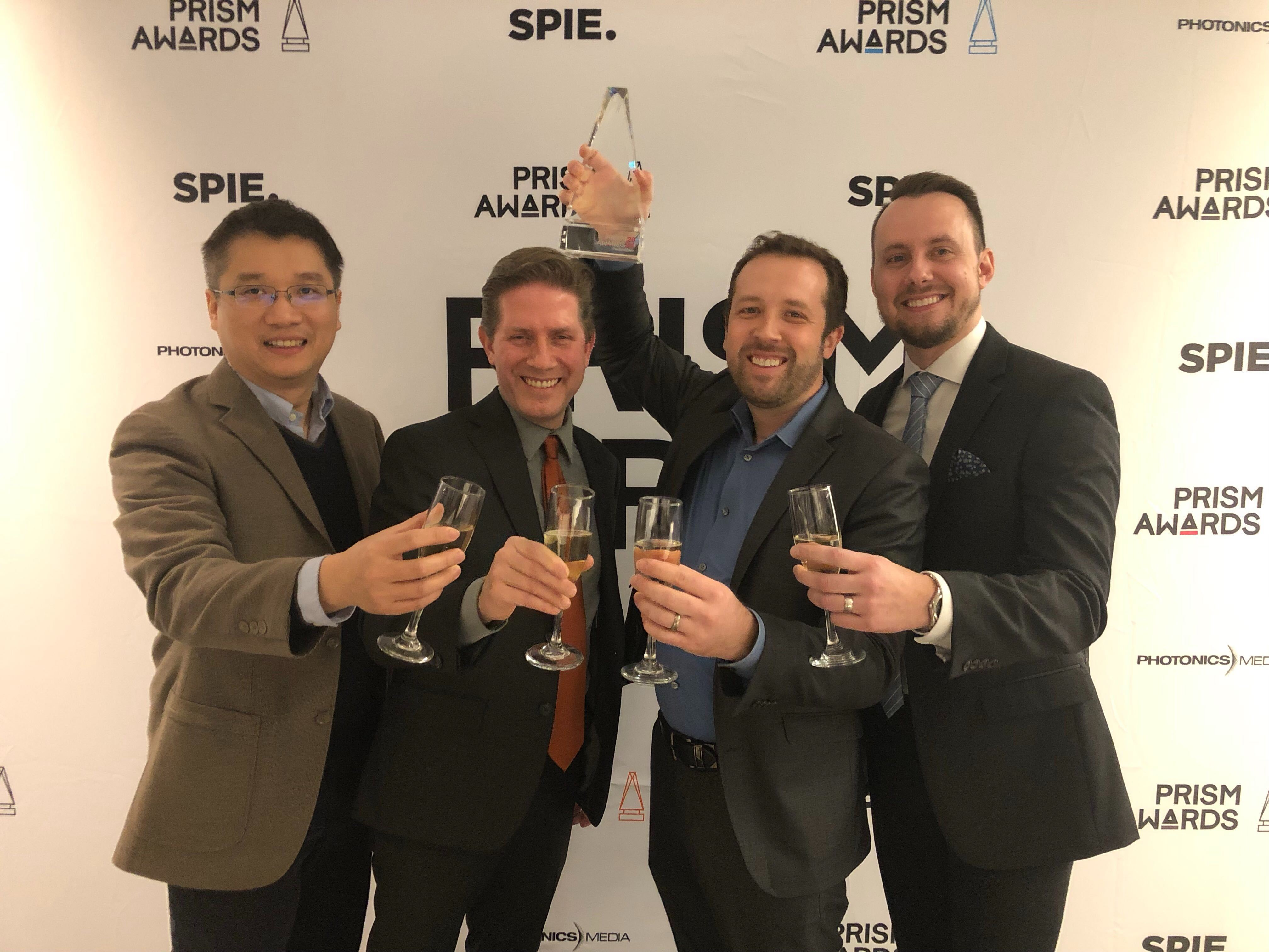 From left to right: Wei Kang, Stephen Boppart, Ryan Shelton, and Ryan Nolan (photo credit: Business Wire)