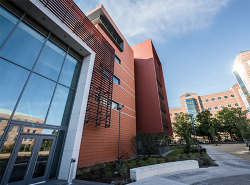exterior of the ECE building