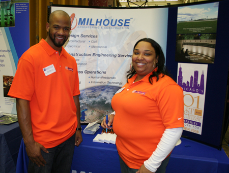 Pierre Henderson and Flashette McKee of Milhouse Engineering and Constructors.