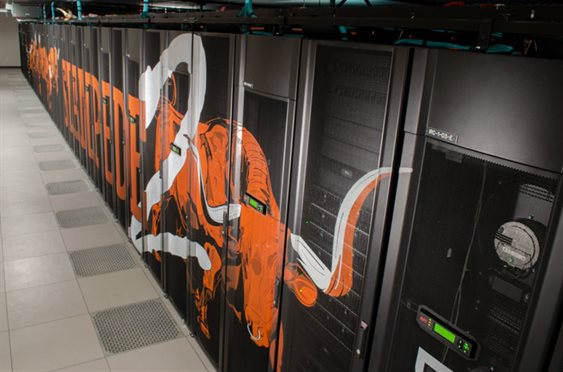 The Stampede2 supercomputer at the Texas Advanced Computing Center is an allocated resource of the Extreme Science and Engineering Discovery Environment (XSEDE) funded by the NSF (Photo credit to TACC)