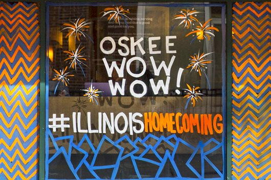 Photo of Oskee Wow Wow painted on window