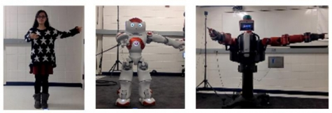 A novice user tester created movements that were then translated to two platforms: NAO  and Baxter.