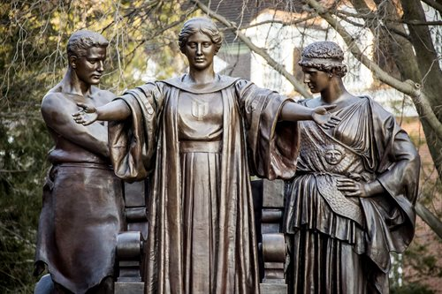 Alma Mater statue at the University of Illinois