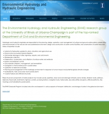 Environmental Hydrology and Hydraulic Engineering screen shot
