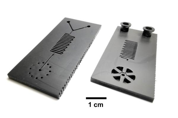 Illinois researchers developed a microfluidic cartridge for a 30-minute COVID-19 test. The cartridges are 3D-printed and could be manufactured quickly.