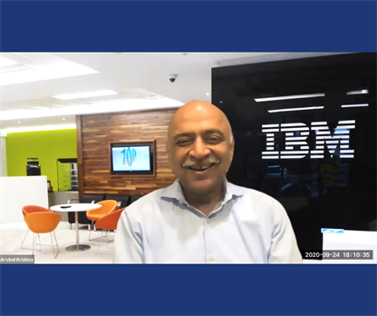 Illinois ECE alumnus and IBM CEO Arvind Krishna (MSEE '87, PhD '90)