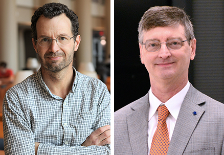 Aerospace professor Jonathan Freund (left) and CS professor Bill Gropp (right) are co-directors of the new $17 million Center for Exascale-enabled Scramjet Design.