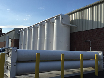 Tank farm on roof
