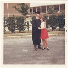 Robert C. Beatty with his future wife, Mary jean Hylak, in June 1969 when he received his bachelor's degree from U of I