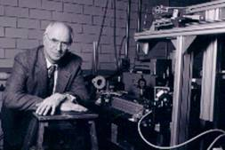 Miles Klein in his research laboratory