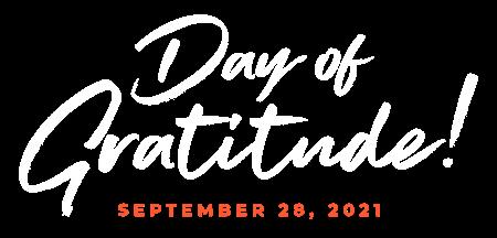 Day of Gratitude September 28, 2021