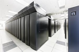 The Blue Waters Supercomputer at NCSA, capable of completing more than 1 quadrillion calculations per second on a sustained basis and more than 13 times that at peak speed.