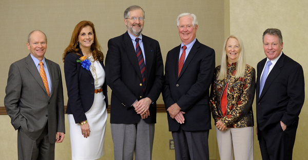 2013 Recipients of the College of Engineering's Alumni Award for Distinguished Service (l-r) John H. Bruning, Beverly A. Huss, Bruce R. Ellingwood, James W. Ashbrook, Mary Jane Irwin, John C. White